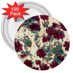 Floral Dreams 10 3  Buttons (100 pack)
