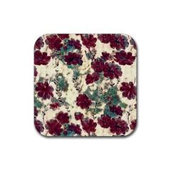 Floral Dreams 10 Rubber Coaster (Square)