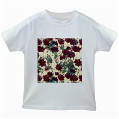 Floral Dreams 10 Kids White T-Shirts