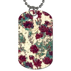 Floral Dreams 10 Dog Tag (two Sides)