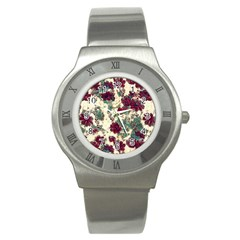 Floral Dreams 10 Stainless Steel Watch