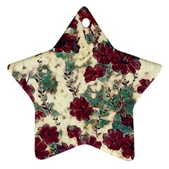 Floral Dreams 10 Star Ornament (Two Sides)
