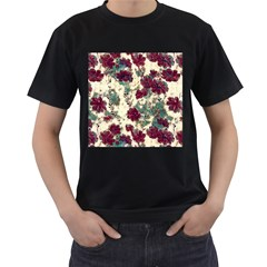 Floral Dreams 10 Men s T-Shirt (Black)