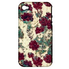 Floral Dreams 10 Apple iPhone 4/4S Hardshell Case (PC+Silicone)