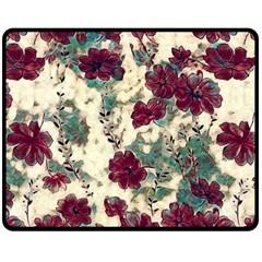 Floral Dreams 10 Double Sided Fleece Blanket (Medium)