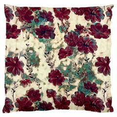 Floral Dreams 10 Large Flano Cushion Case (One Side)