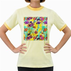 Floral Dreams 12 Women s Fitted Ringer T-Shirts