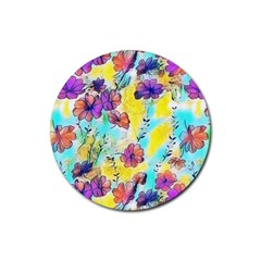 Floral Dreams 12 Rubber Round Coaster (4 pack)