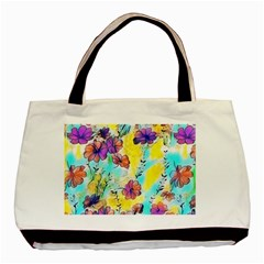 Floral Dreams 12 Basic Tote Bag (Two Sides)
