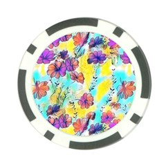 Floral Dreams 12 Poker Chip Card Guard (10 pack)