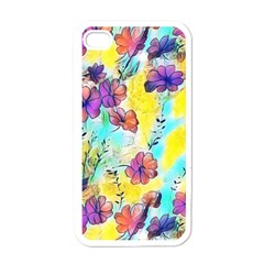 Floral Dreams 12 Apple iPhone 4 Case (White)
