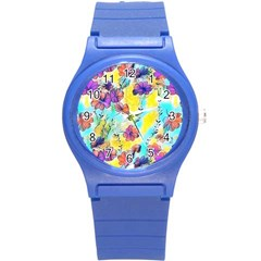 Floral Dreams 12 Round Plastic Sport Watch (S)