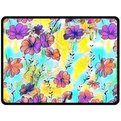 Floral Dreams 12 Double Sided Fleece Blanket (Large)