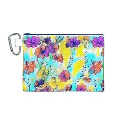 Floral Dreams 12 Canvas Cosmetic Bag (M)
