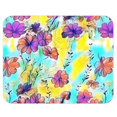 Floral Dreams 12 Double Sided Flano Blanket (Medium)