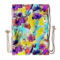 Floral Dreams 12 Drawstring Bag (Large)