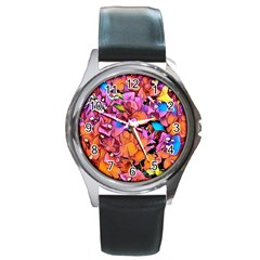 Floral Dreams 15 Round Metal Watch
