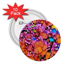 Floral Dreams 15 2.25  Buttons (10 pack)