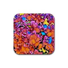 Floral Dreams 15 Rubber Coaster (Square)