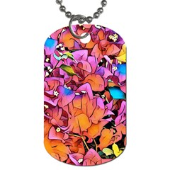 Floral Dreams 15 Dog Tag (One Side)