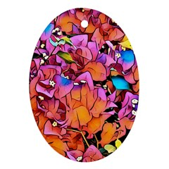 Floral Dreams 15 Oval Ornament (Two Sides)
