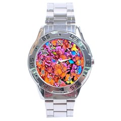 Floral Dreams 15 Stainless Steel Analogue Watch