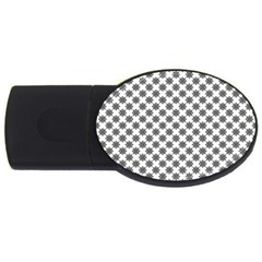 Pattern USB Flash Drive Oval (1 GB)