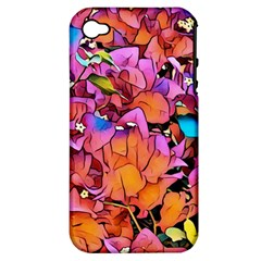 Floral Dreams 15 Apple iPhone 4/4S Hardshell Case (PC+Silicone)