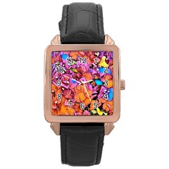 Floral Dreams 15 Rose Gold Leather Watch