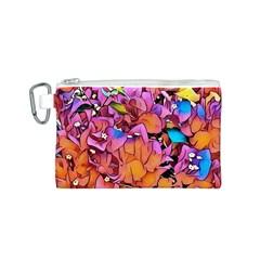 Floral Dreams 15 Canvas Cosmetic Bag (S)