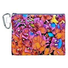Floral Dreams 15 Canvas Cosmetic Bag (XXL)