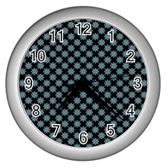 Pattern Wall Clocks (Silver)