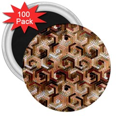 Pattern Factory 23 Brown 3  Magnets (100 pack)