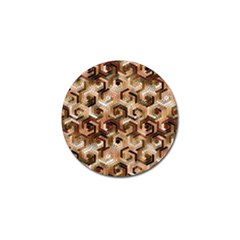 Pattern Factory 23 Brown Golf Ball Marker (4 pack)