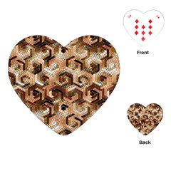 Pattern Factory 23 Brown Playing Cards (Heart)