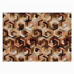 Pattern Factory 23 Brown Large Glasses Cloth