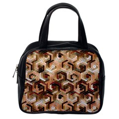 Pattern Factory 23 Brown Classic Handbags (One Side)
