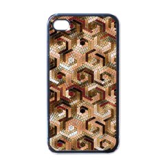 Pattern Factory 23 Brown Apple iPhone 4 Case (Black)