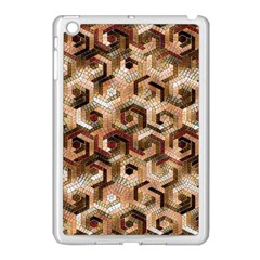 Pattern Factory 23 Brown Apple iPad Mini Case (White)
