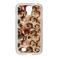 Pattern Factory 23 Brown Samsung GALAXY S4 I9500/ I9505 Case (White)