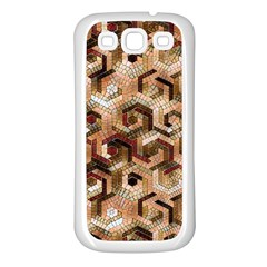 Pattern Factory 23 Brown Samsung Galaxy S3 Back Case (White)