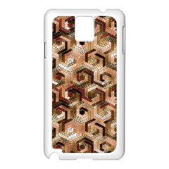 Pattern Factory 23 Brown Samsung Galaxy Note 3 N9005 Case (White)