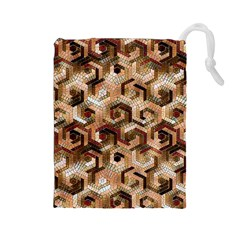 Pattern Factory 23 Brown Drawstring Pouches (Large)
