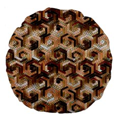 Pattern Factory 23 Brown Large 18  Premium Flano Round Cushions
