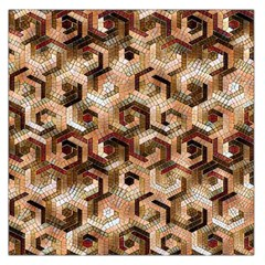 Pattern Factory 23 Brown Large Satin Scarf (Square)