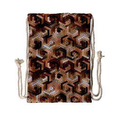 Pattern Factory 23 Brown Drawstring Bag (Small)