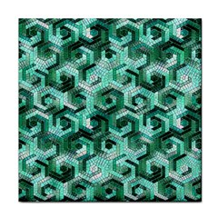 Pattern Factory 23 Teal Tile Coasters