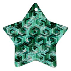 Pattern Factory 23 Teal Ornament (Star)