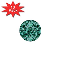 Pattern Factory 23 Teal 1  Mini Buttons (10 pack)