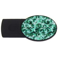 Pattern Factory 23 Teal USB Flash Drive Oval (1 GB)